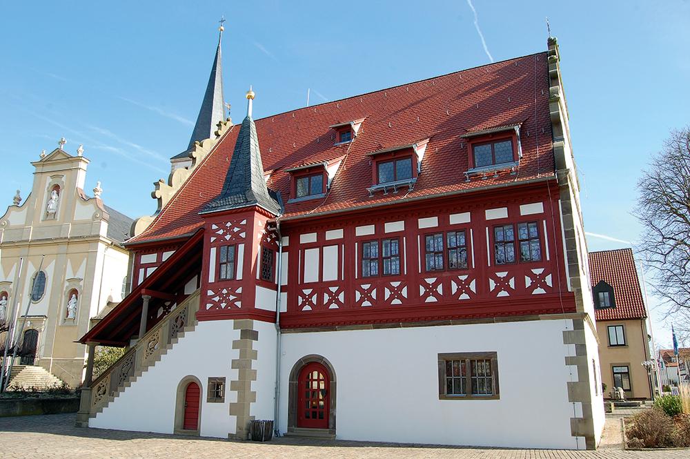 Das Rathaus von Grettstadt