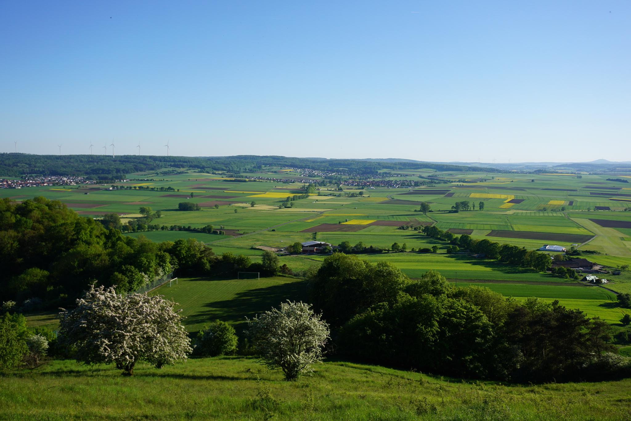 Eine Landschaft, die weit blicken lässt bei Amöneburg © T. Hoyer