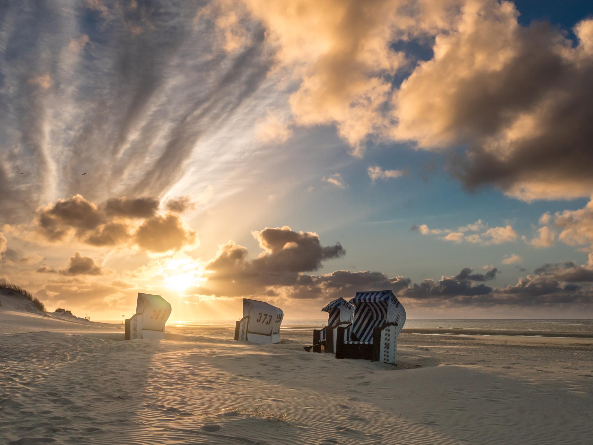 Sonnenuntergang auf Spiekeroog © Fotoarchiv Nordseebad Spiekeroog GmbH