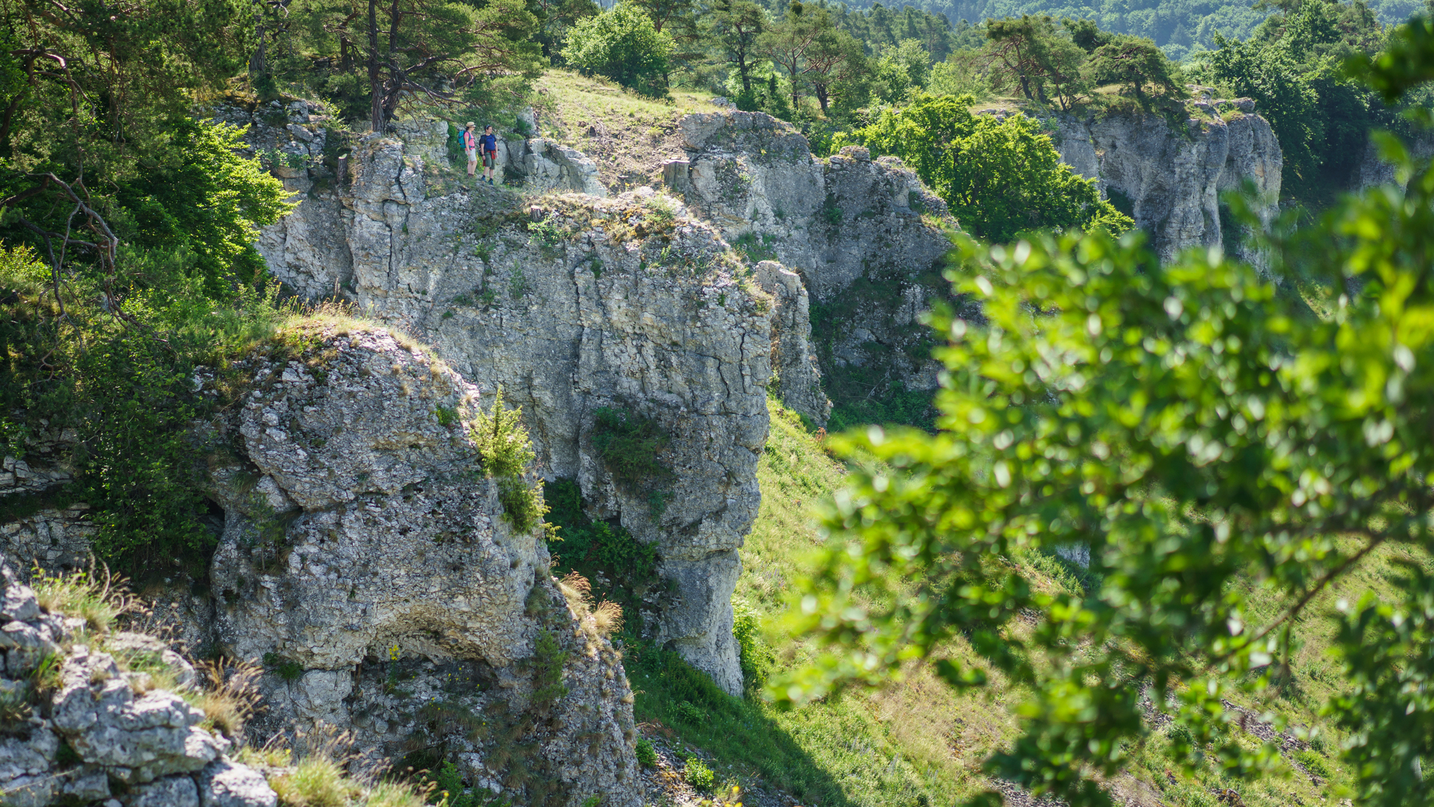 Wanderer auf den '12 Aposteln' © Tourismusverband Naturpark Altmühl, Dietmar Denger