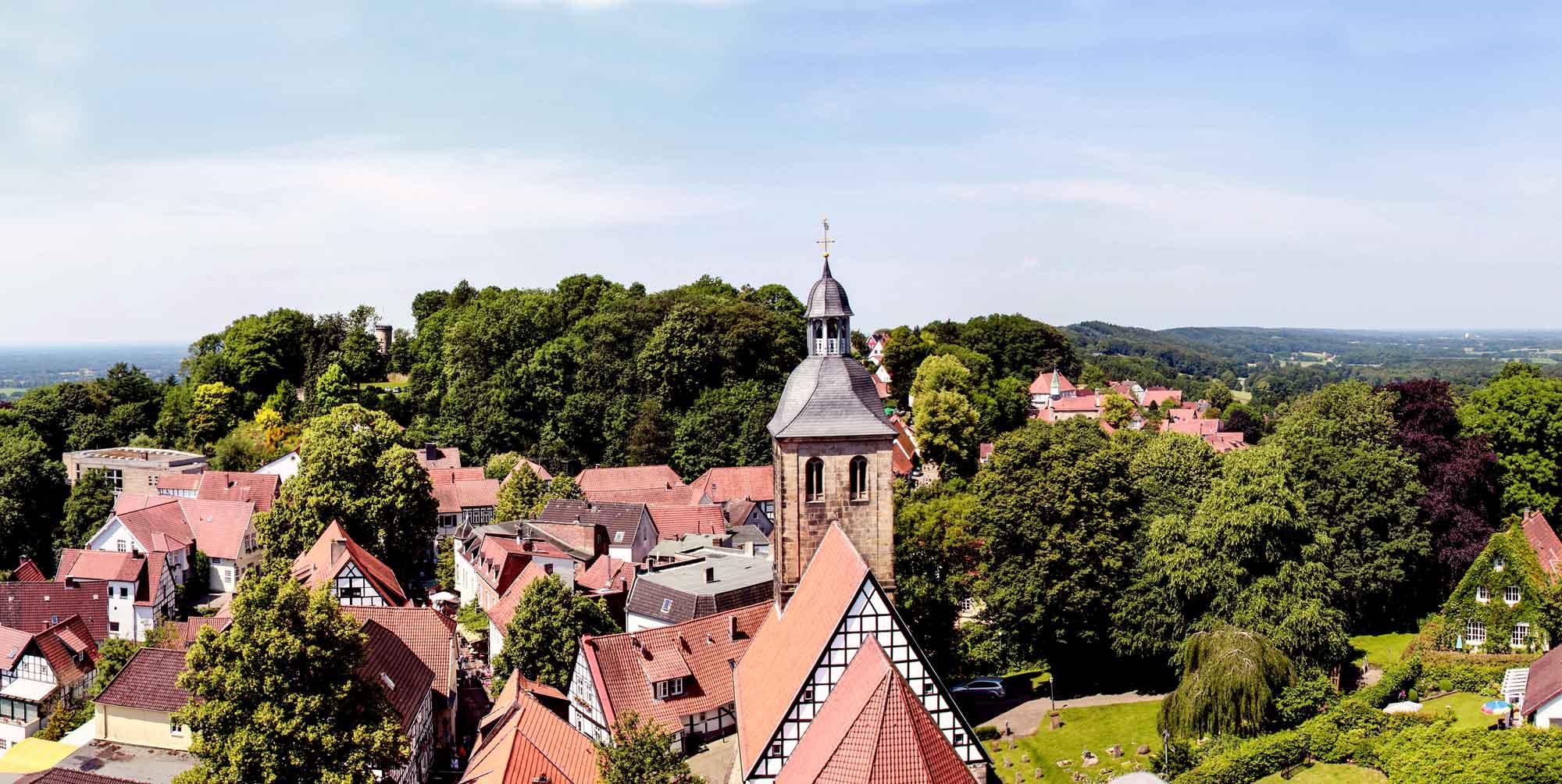 Malerische Weitsicht über Tecklenburg © Heiner Schäffer