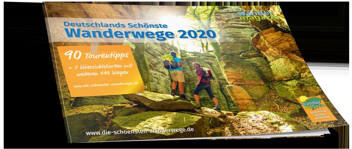 Das Cover des Specials Deutschlands Schönste Wanderwege 2020