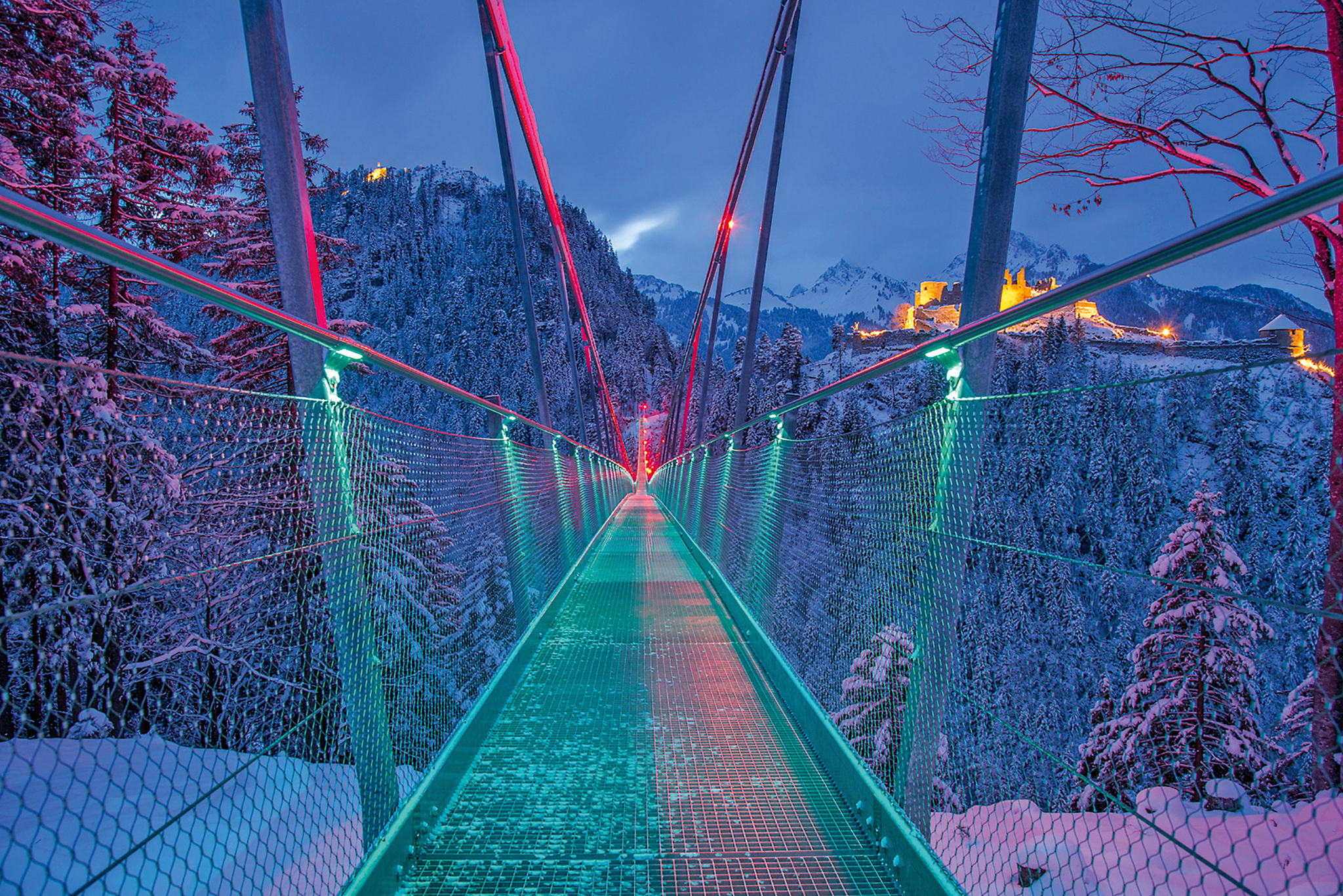 Fußgängerhängebrücke highline179 © Naturparkregion Reutte, Rolf Marke