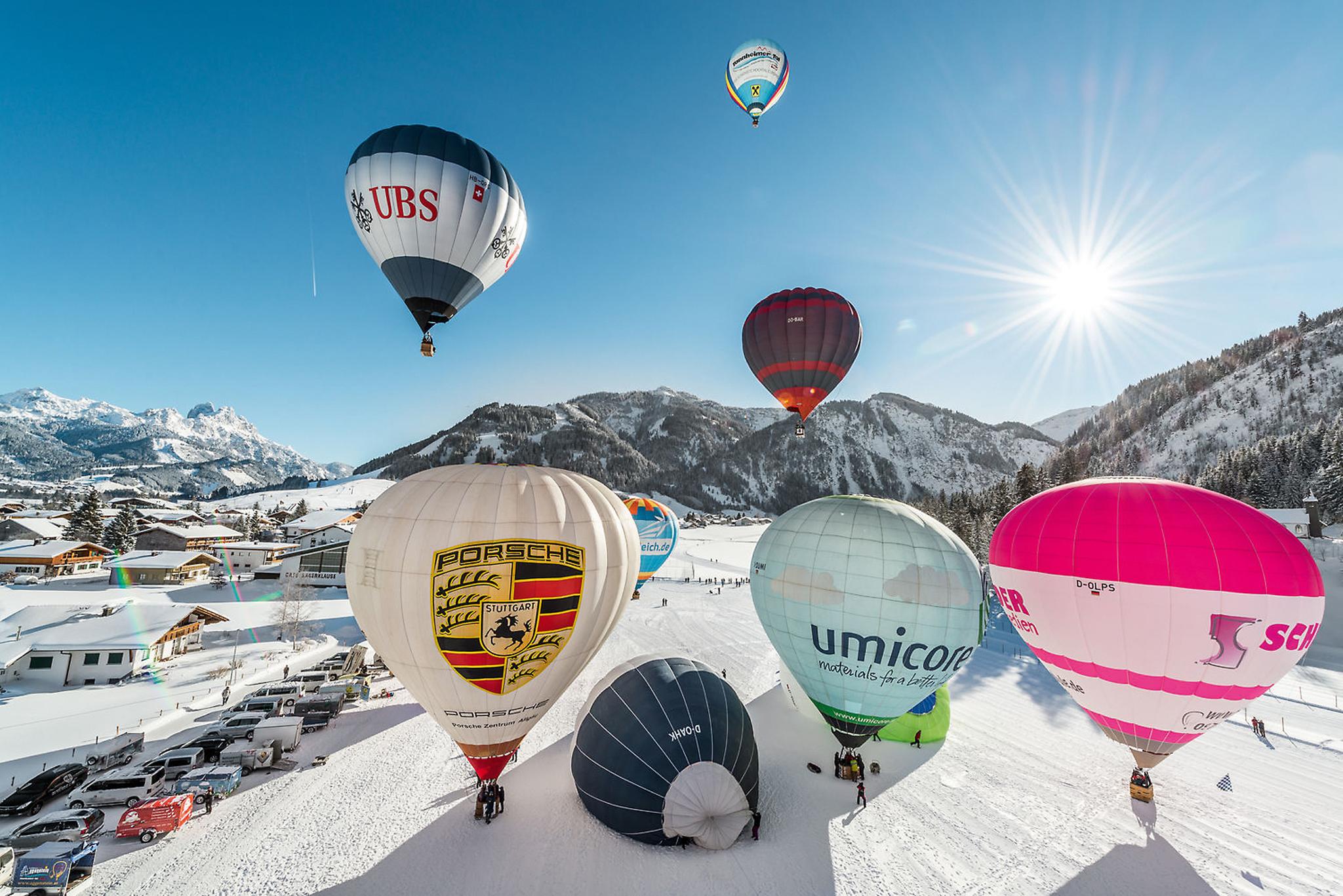 Das Internationale Ballonfestival findet vom 13. bis 28. Januar 2018 statt. © Achim Meurer