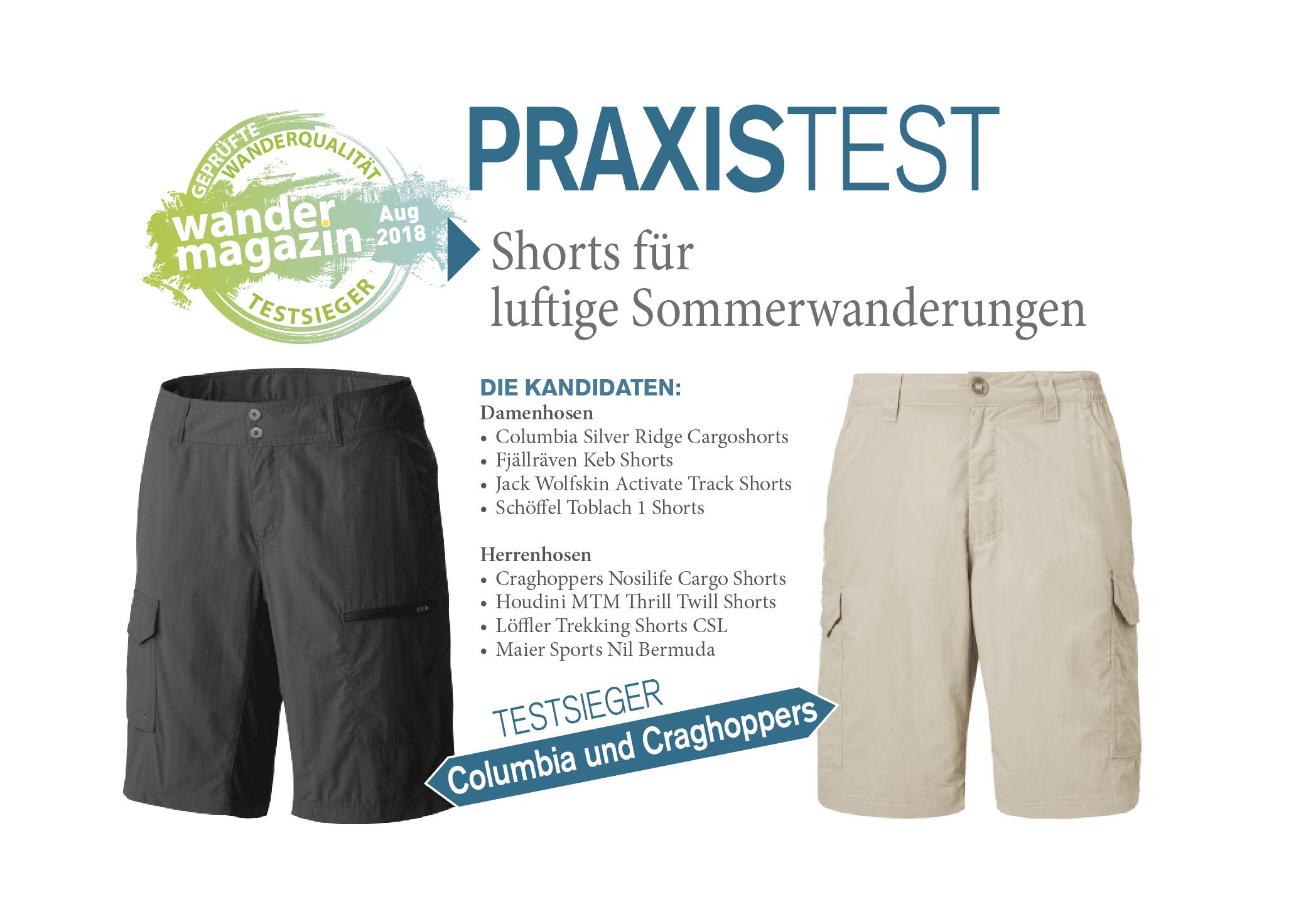 Wandermagazin shorts für luftige sommerwanderungen