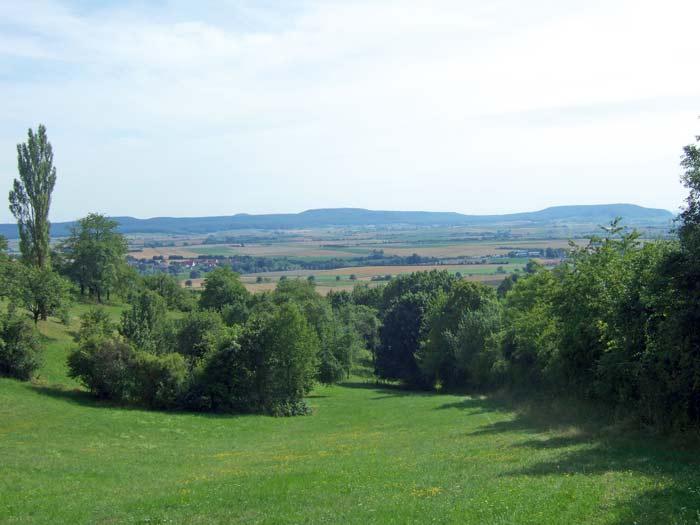 Blick vom Vogelsangberg auf den Südlichen Steigerwald
