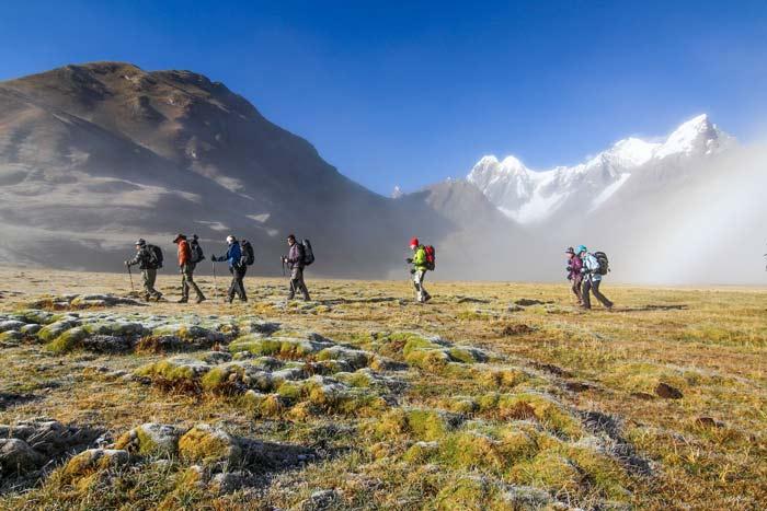 Trekking mit Hauser Exkursionen am Cordillera Huayhuash, Peru © Astrid Därr