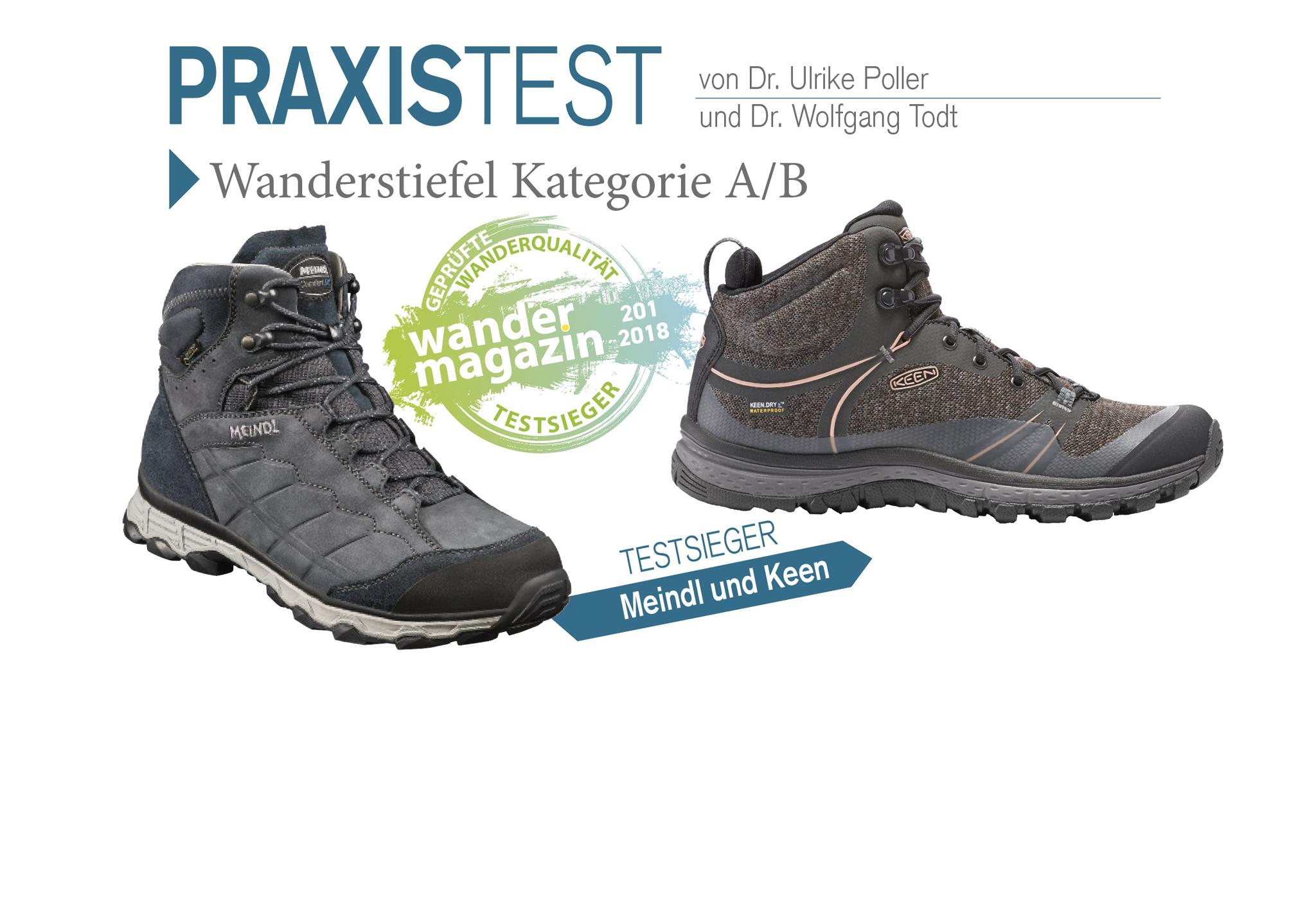 Die Wandermagazin-Testsieger © U. Poller / W. Todt