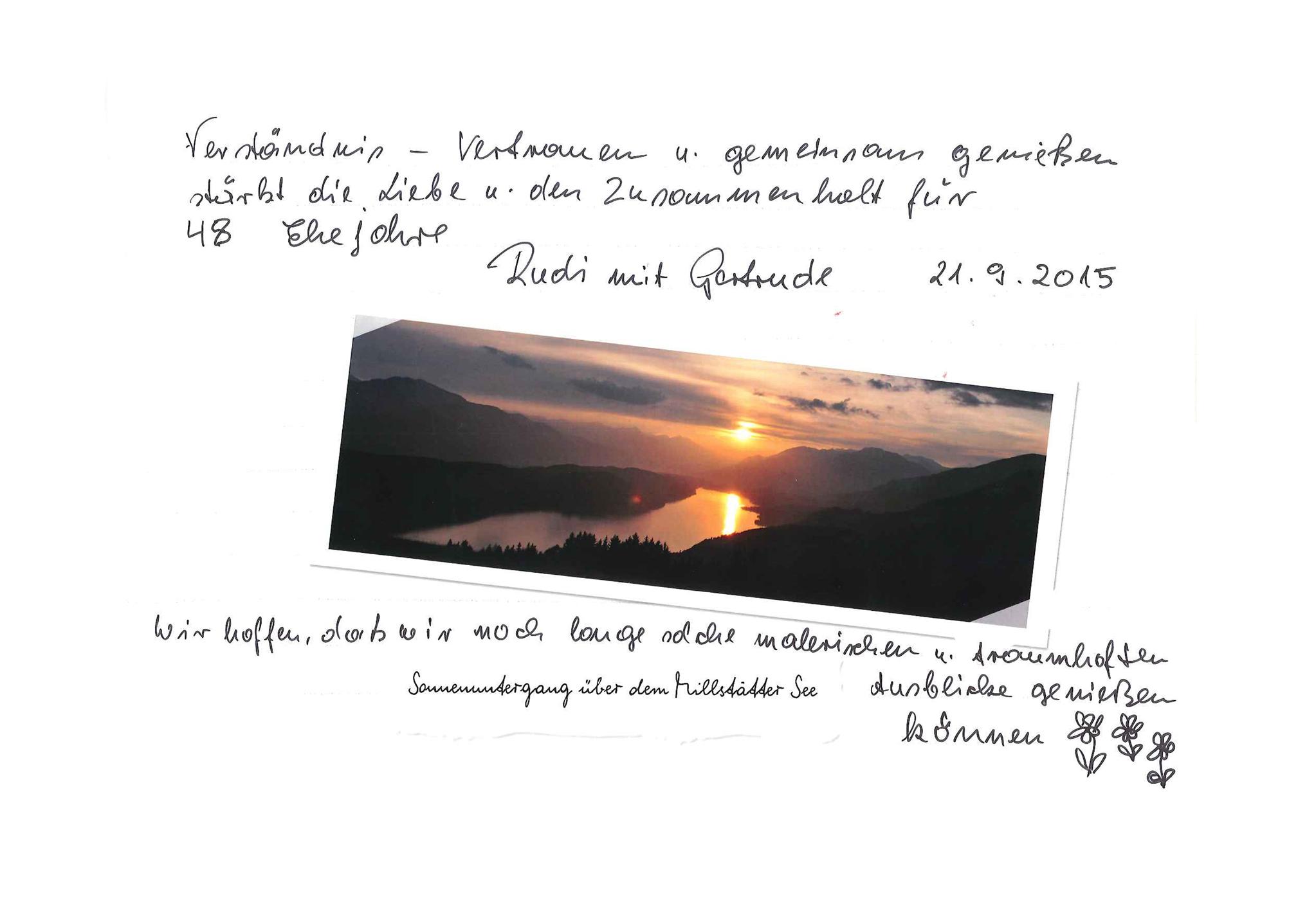 Eintrag in einem der Bücher auf dem Sentiero dell'Amore © Millstätter See Tourismus