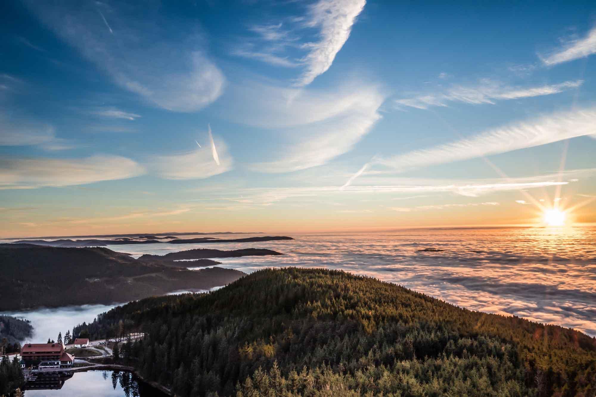 Nebelmeer über dem Mummelsee © Tourist-Info Achertal