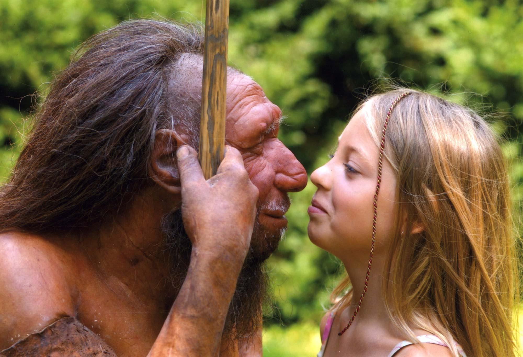 Hautnahe Begegnungen © Stiftung Neanderthal Museum