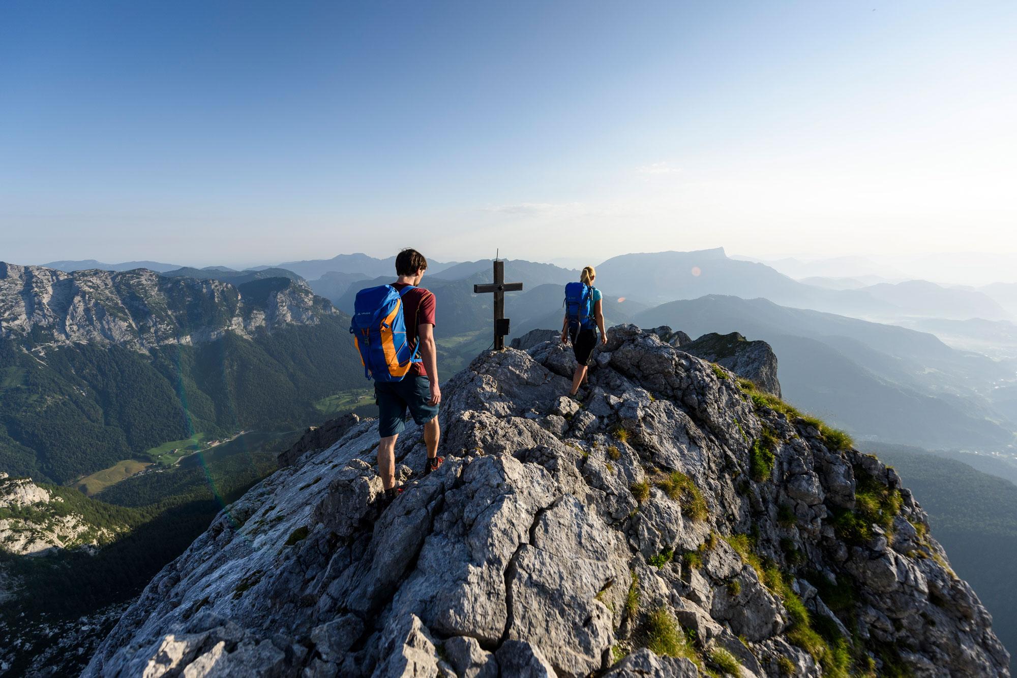 Hoch hinaus zum Gipfelkreuz © DAV/Wolfgang Ehn