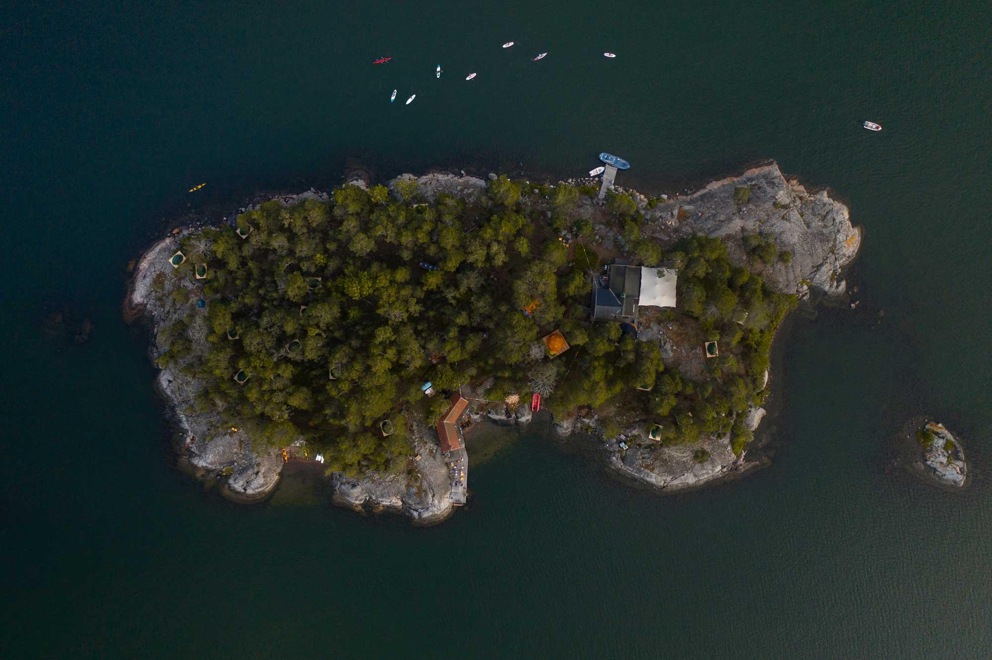 Die Insel von oben © Jack Wolfskin