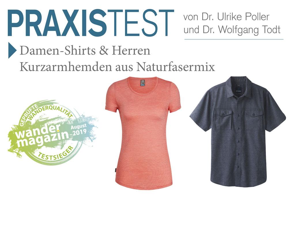Die Testsieger: Das Damen Icebreaker Shirt aus Merinowolle und Lyocell und für Herren das Merger SS Shirt von Prana