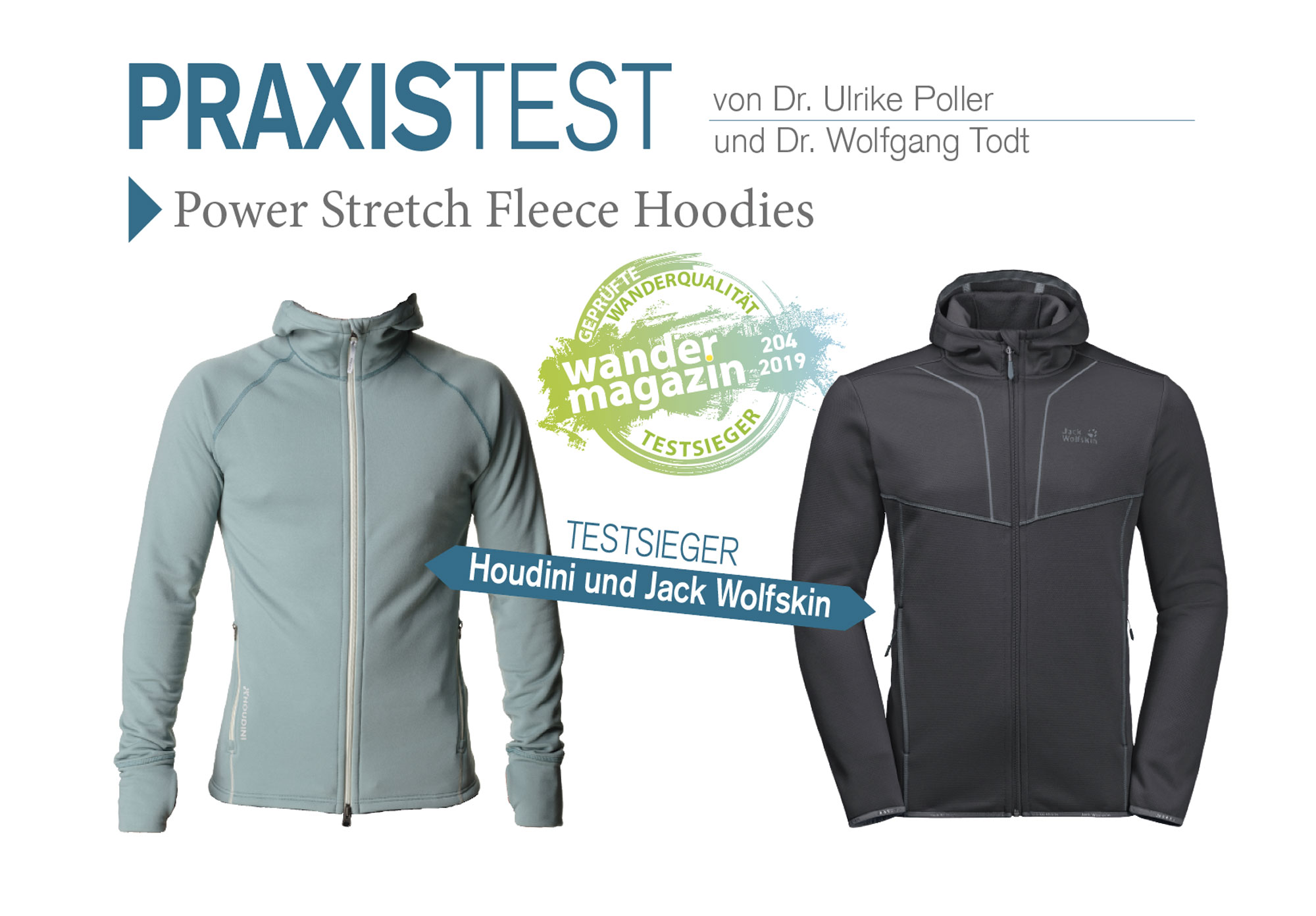 Praxistest Power Stretch Fleece Hoodies