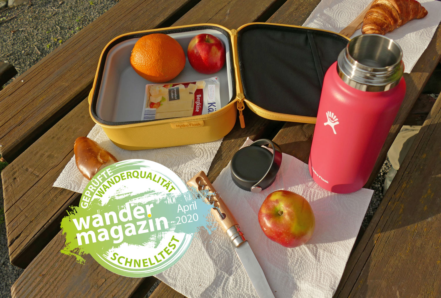 Hydroflask Insulated Lunch Box und Wide Mouth Flasche © U. Poller / W. Todt