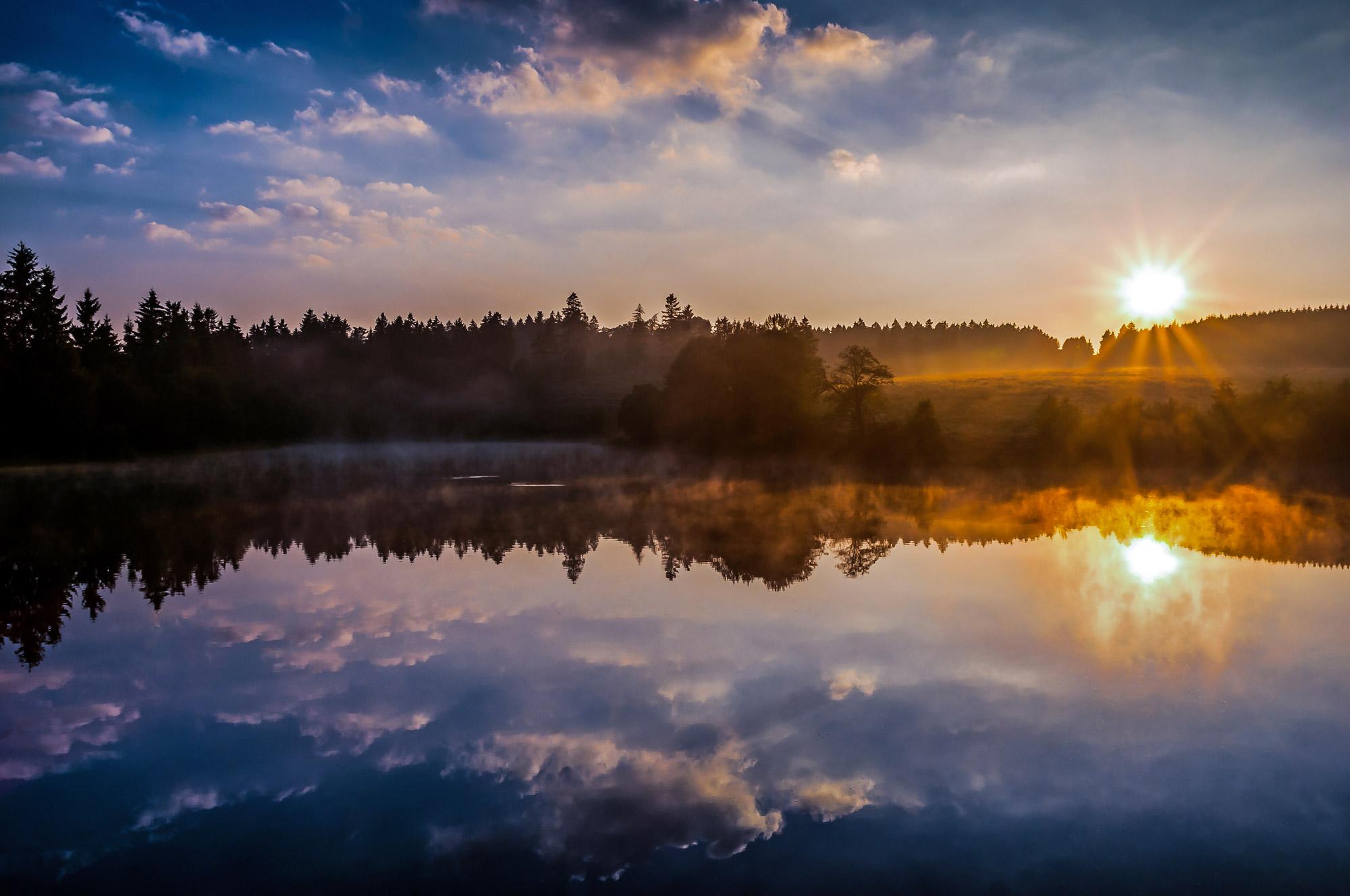 Teich des UNESCO Kulturerbes Oberharzer Wasserwirtschaft bei Clausthal-Zellerfeld  © Steffen Henze