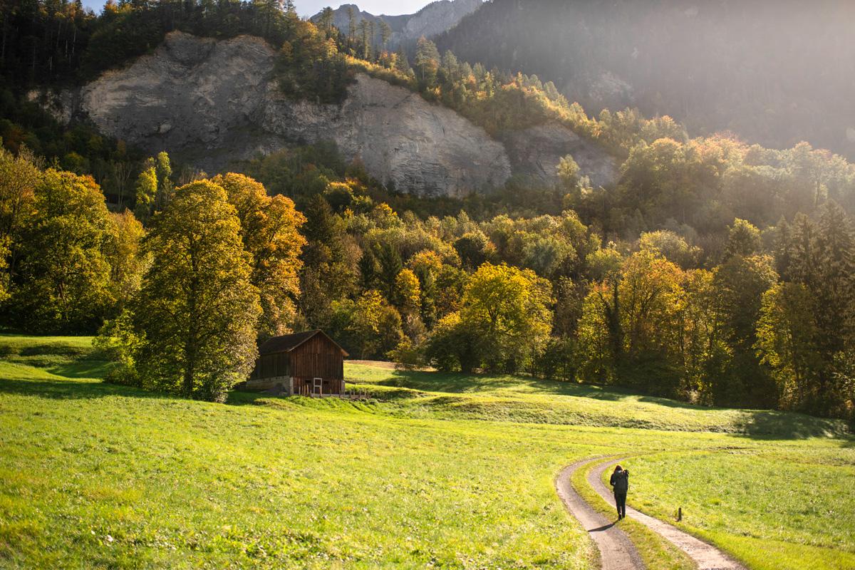 Der Liechtenstein-Weg bei Triesen © Liechtenstein Marketing