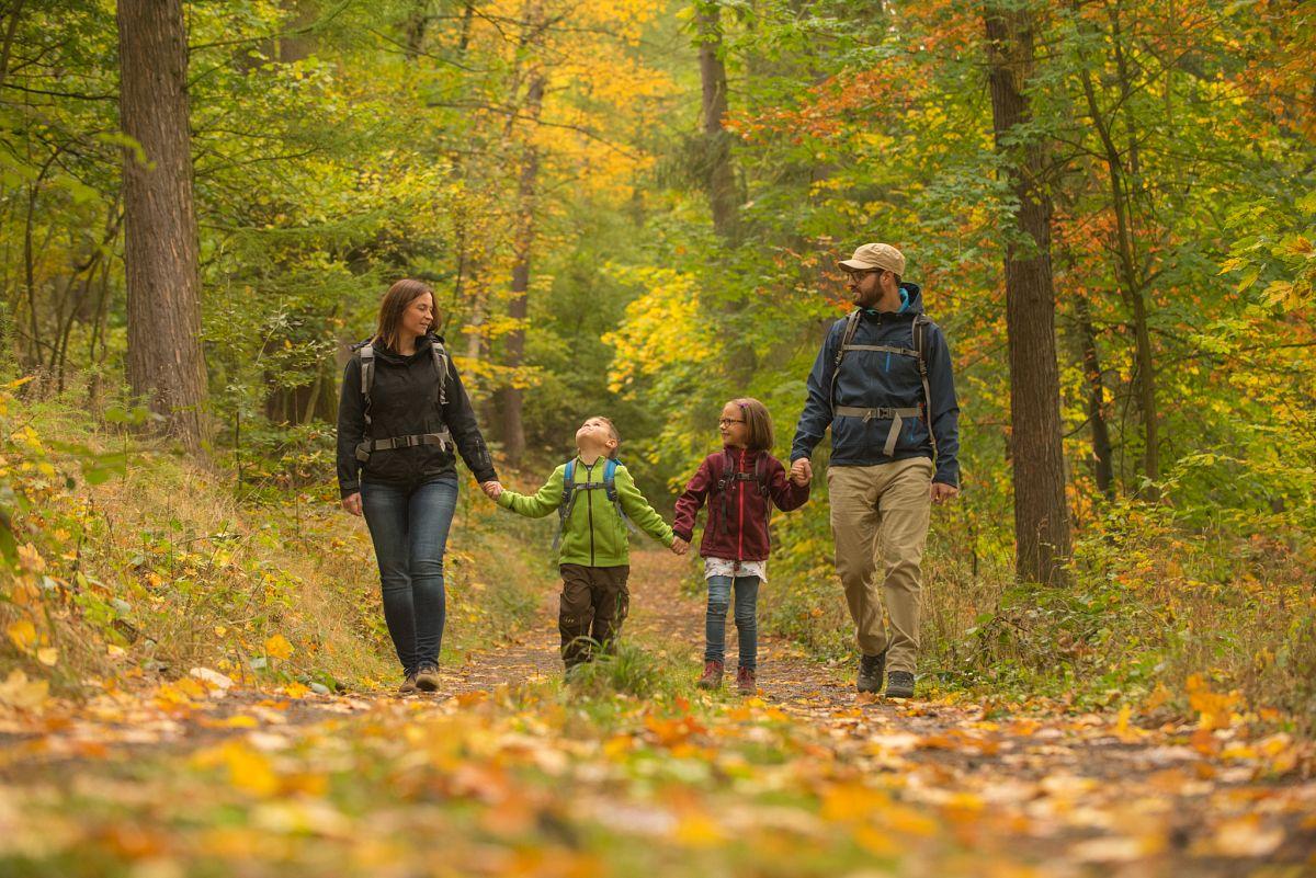 Wanderfamilie auf dem Spessartbogen © Spessart Tourismus und Marketing GmbH