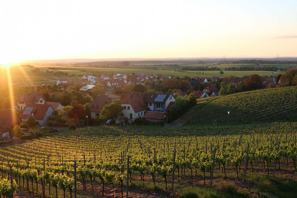 Ein fränkischer Sonnenuntergang zum Niederknien © Manuel Andrack