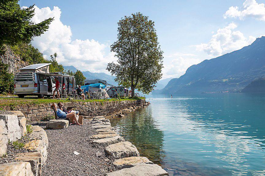 Idyllisch und ruhig: Camping Au Lac, Ringgenberg © Camping Au Lac