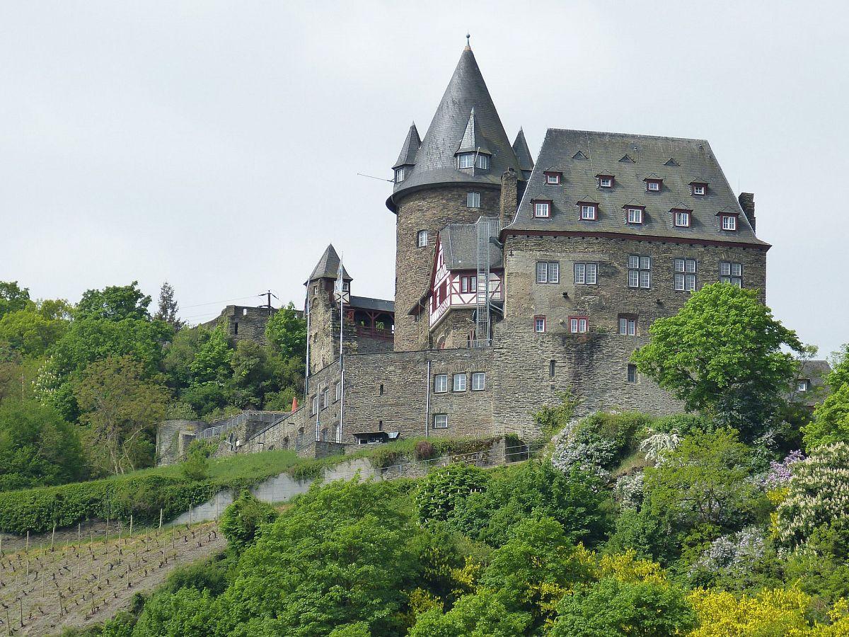 Auf Burg Stahleck am Rhein kann man auch übernachten. © Pixabay
