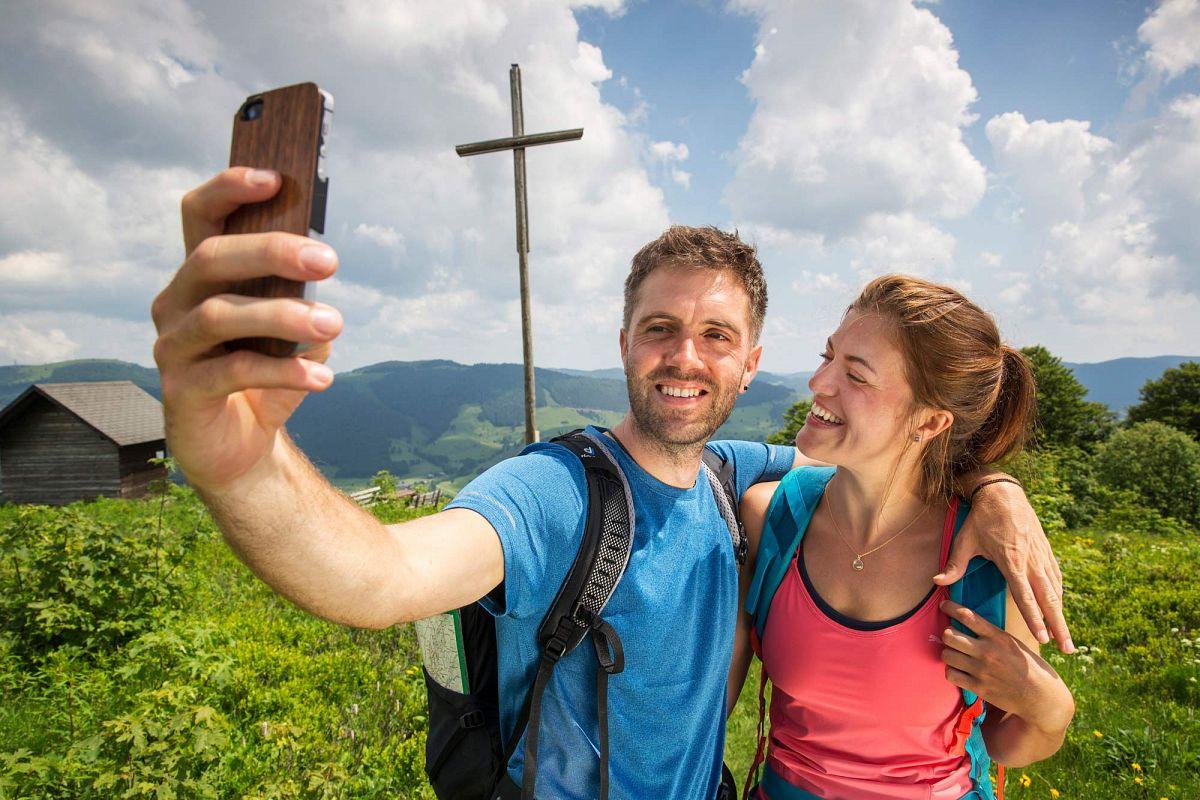 Gemeinsames Selfie im Bernauer Hochtal © Thomas Bichler