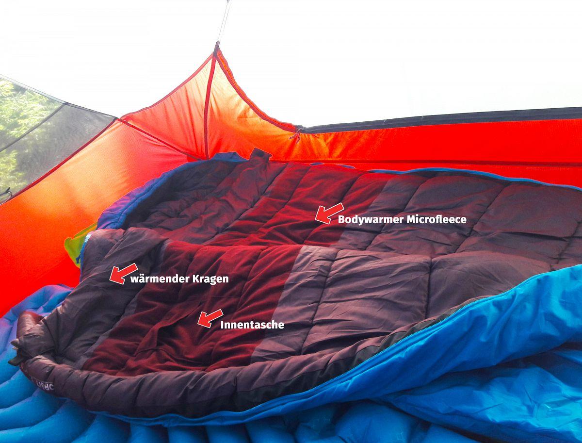 Praktisch Extras am Schlafsack Deuter Orbit 0°