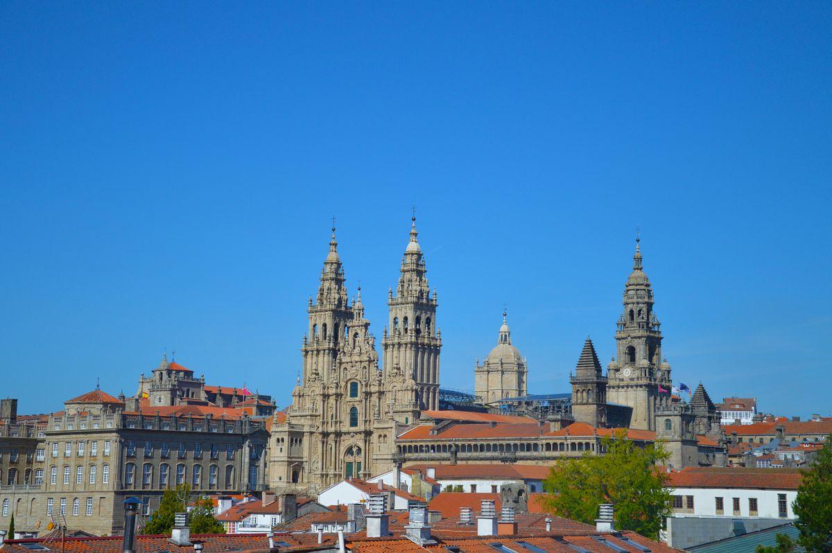 Blick auf die Kathedrale von Santiago de Compostela © Susanne Otto