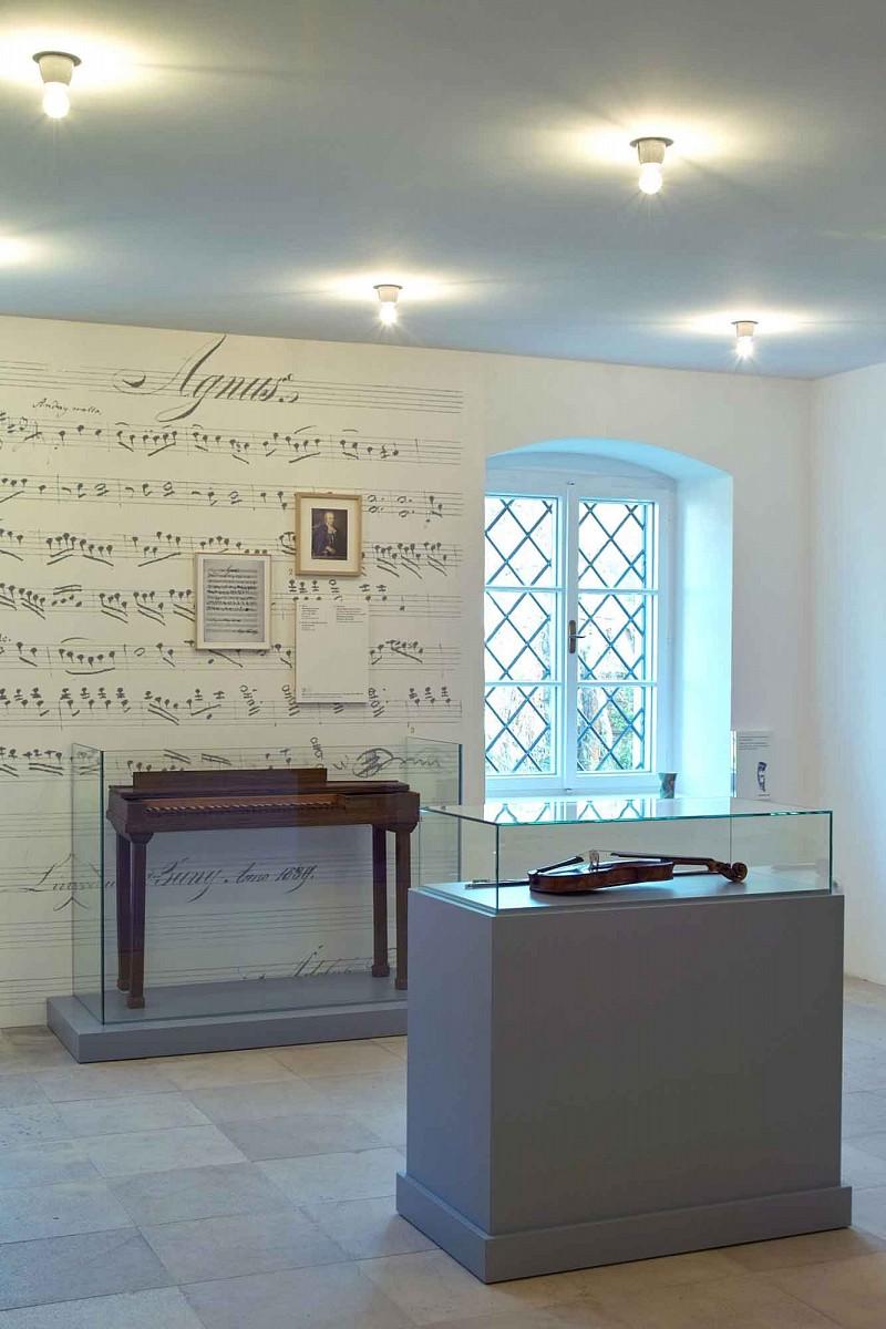 Ausstellungsansicht Anton-Bruckner-Museum Ansfelden © Gerold Tagwerker