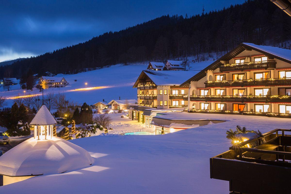 Winterlich entspannen im Wellnesshotel © Hotel Engel Obertal