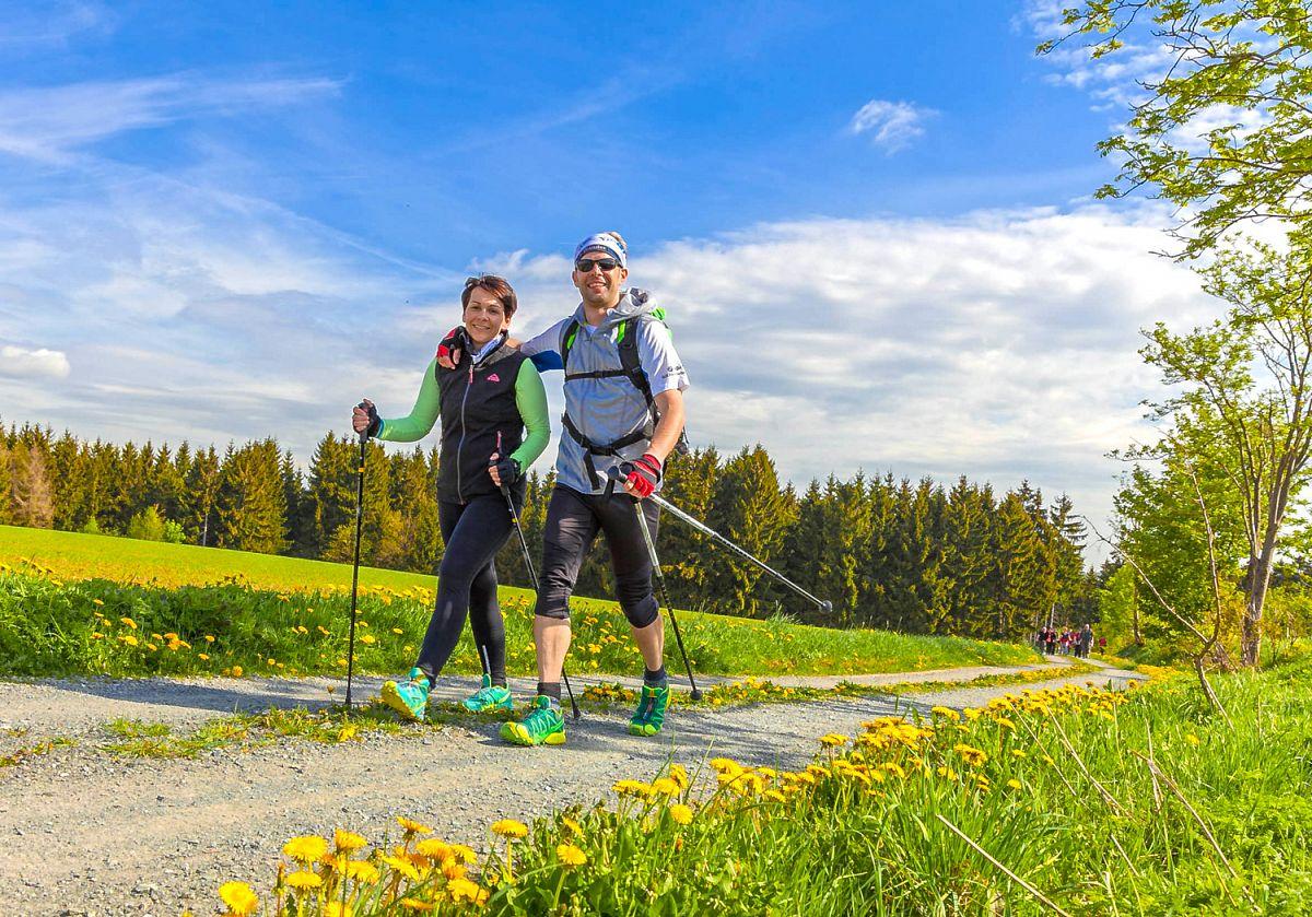Wanderspaß beim Wandermarathon © Frankenwald Tourismus, Markus Balkow
