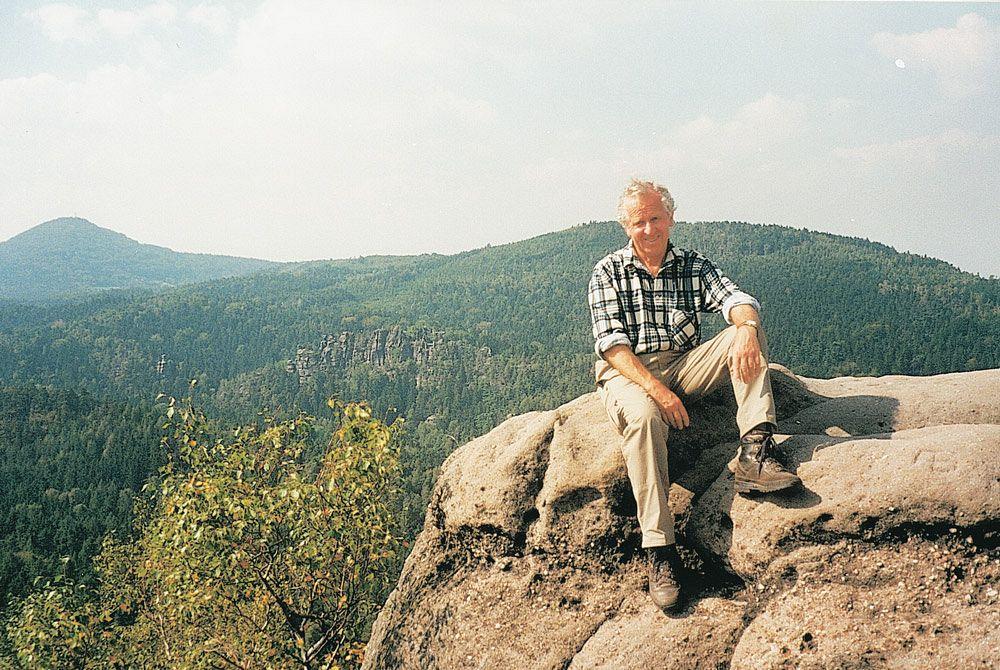 Dr. Konrad Lechner im Zittauer Gebirge