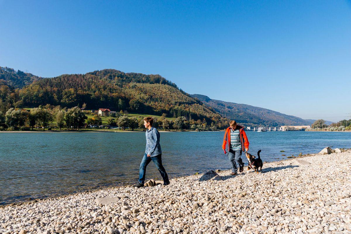 Kiesstrand an der Donau © Tourismus Passauer Land, Fotograf Gregor Lengler