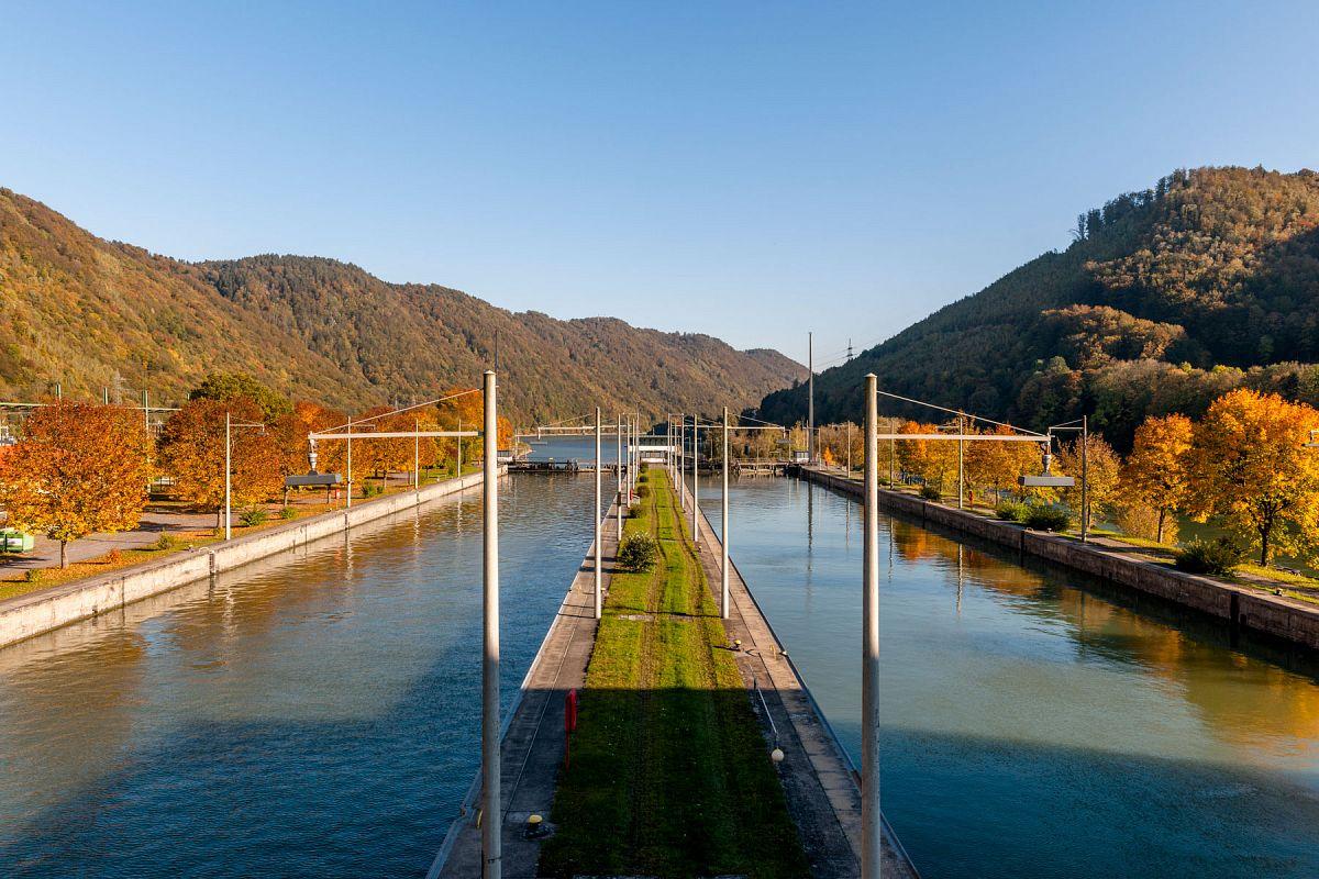 Schleuse am Kraftwerk Jochenstein © Tourismus Passauer Land, Fotograf Gregor Lengler