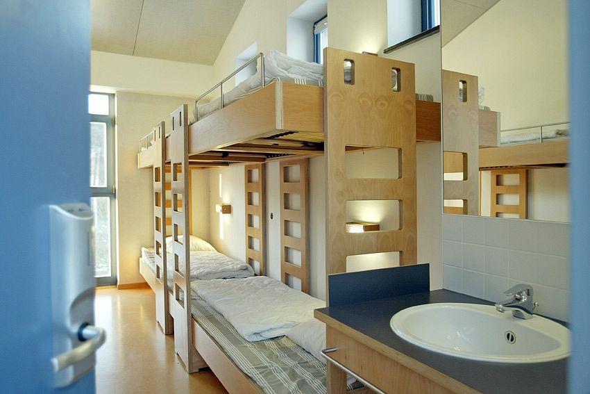 Einblick in die modernen Schlafzimmer der Jugendherberge ©Luxemburgische Jugendherbergen