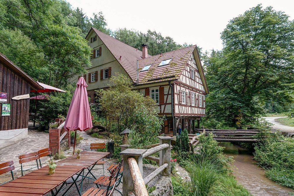 Der Garten der Hagmühle ist idylle pur © Stadtarchiv Welzheim