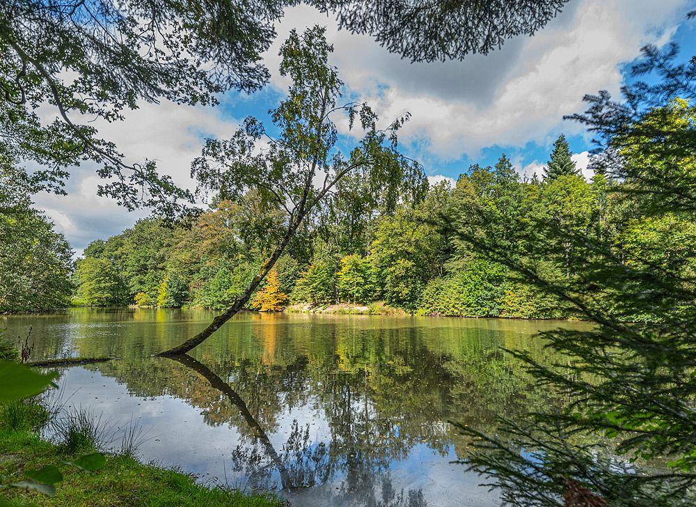 Am Ufer des Ropbachsees © Stadtarchiv Welzheim