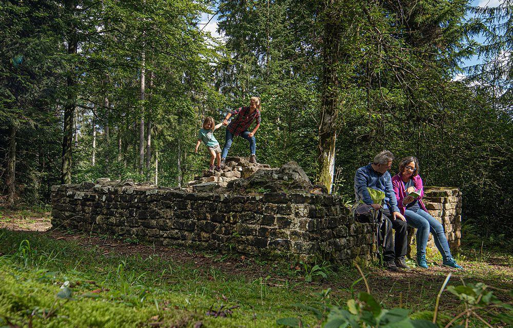 Klettern auf den Spuren der Römer © Stadtarchiv Welzheim
