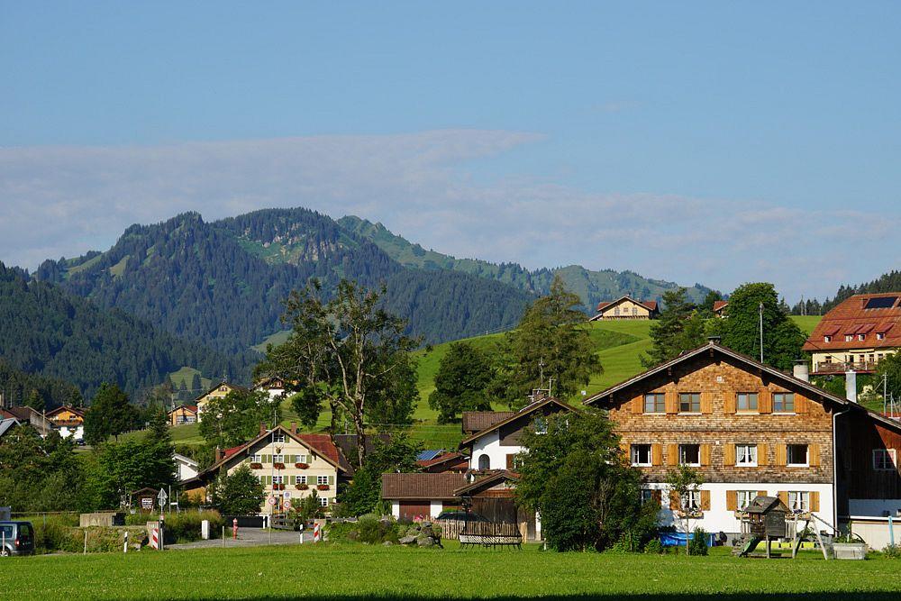 Der Ort Gunzesried am Ende des Haldertobels © Tourist-Info Blaichach