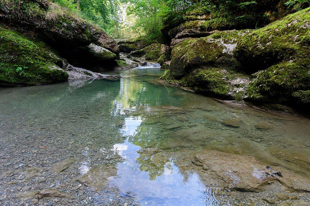 Das Wasser der Gunzesrieder Ach ist glasklar © Thomas Gretler
