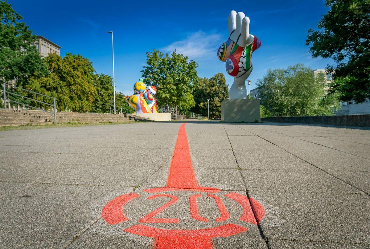 Erkundung durch die Innenstadt Roter Faden © Lars Gerhardts
