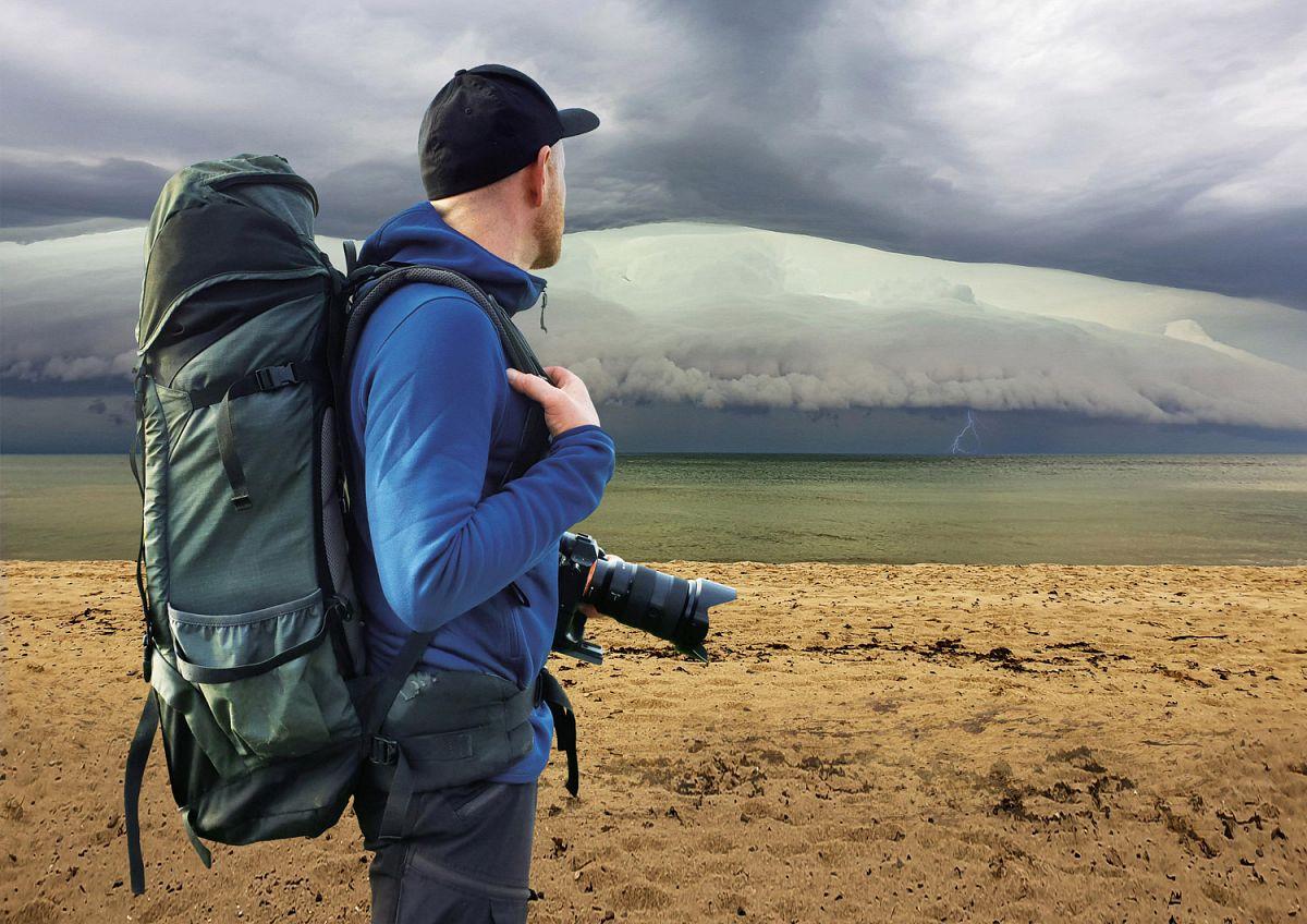 Enno Seifried bei Gewitter an der Ostsee. Alle Fotos: © Enno Seifried
