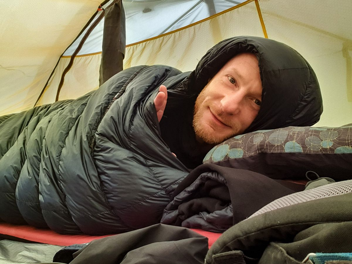 Morgens im Zelt
