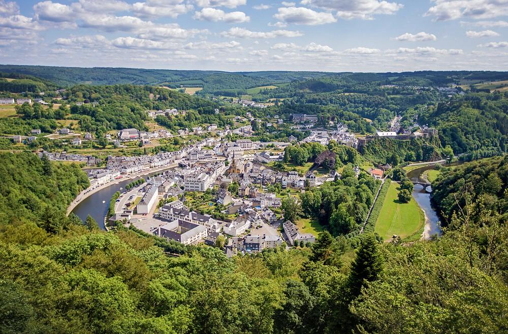 Ausblick auf Bouillon vom Belvédère d'Auclin © WBT, David Samyn