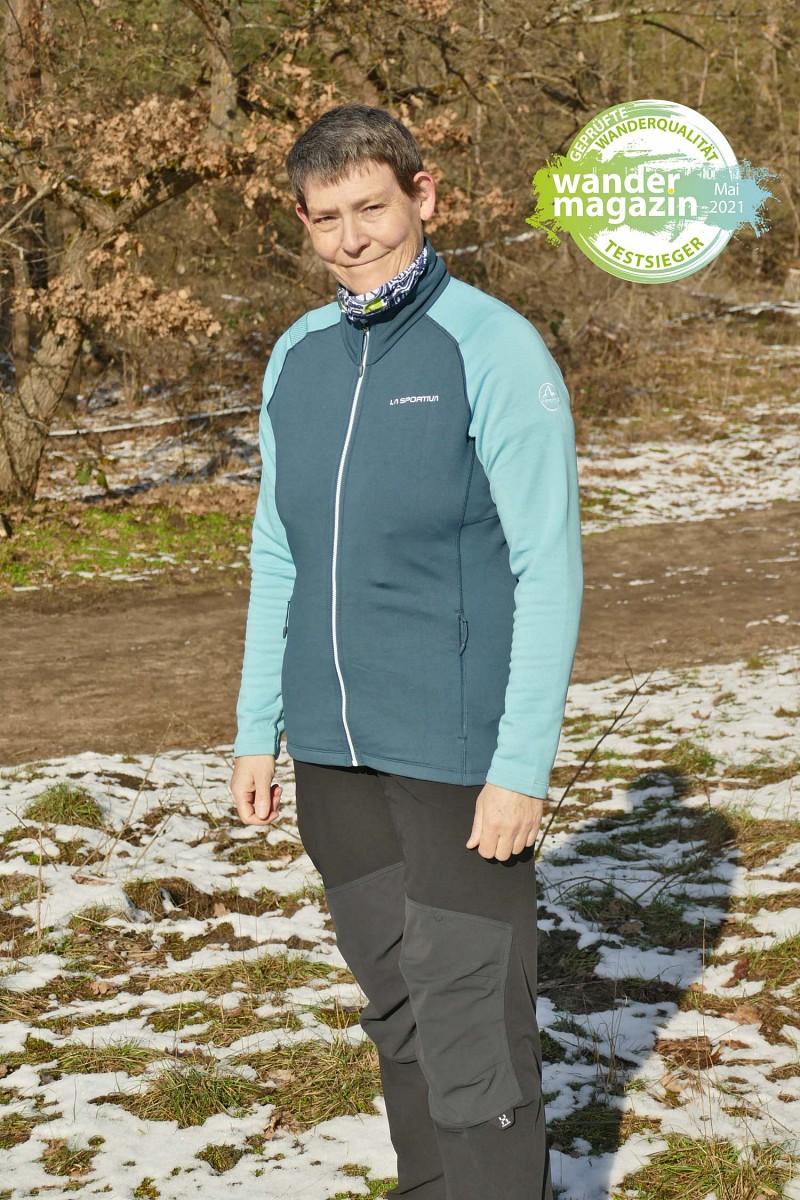 Testsieger Gruppe 2  –flauschige Jacken, mind. 75% recycelt: La Sportiva Hera Jacket© U. Poller/ W. Todt