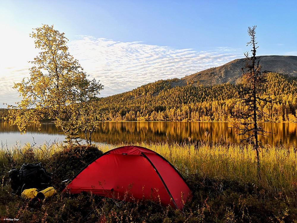 Ein weiterer schöner Zeltplatz in Finnland