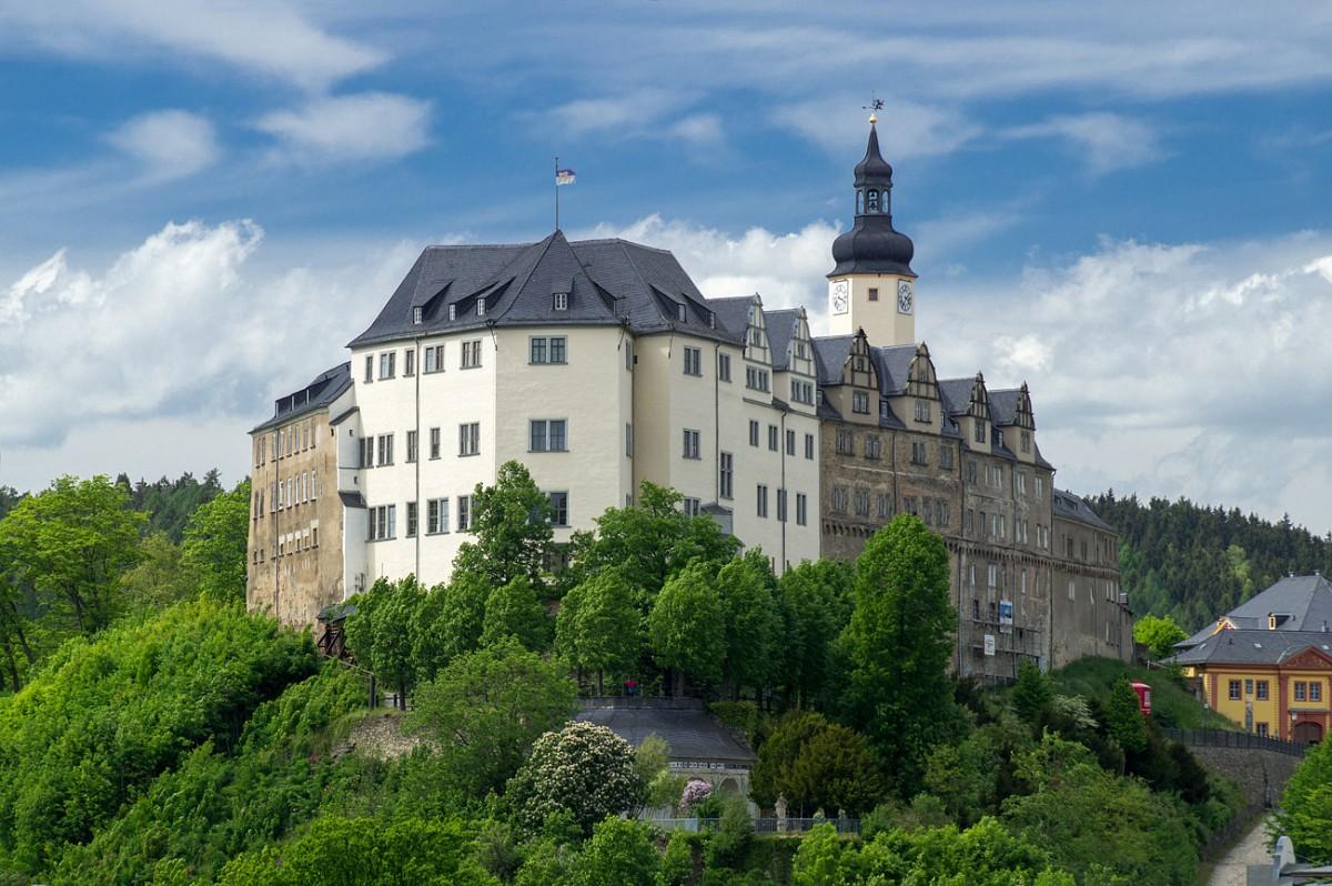 Das obere Schloss zu Greiz, Elsterperlenweg® © TVV, S. Theilig