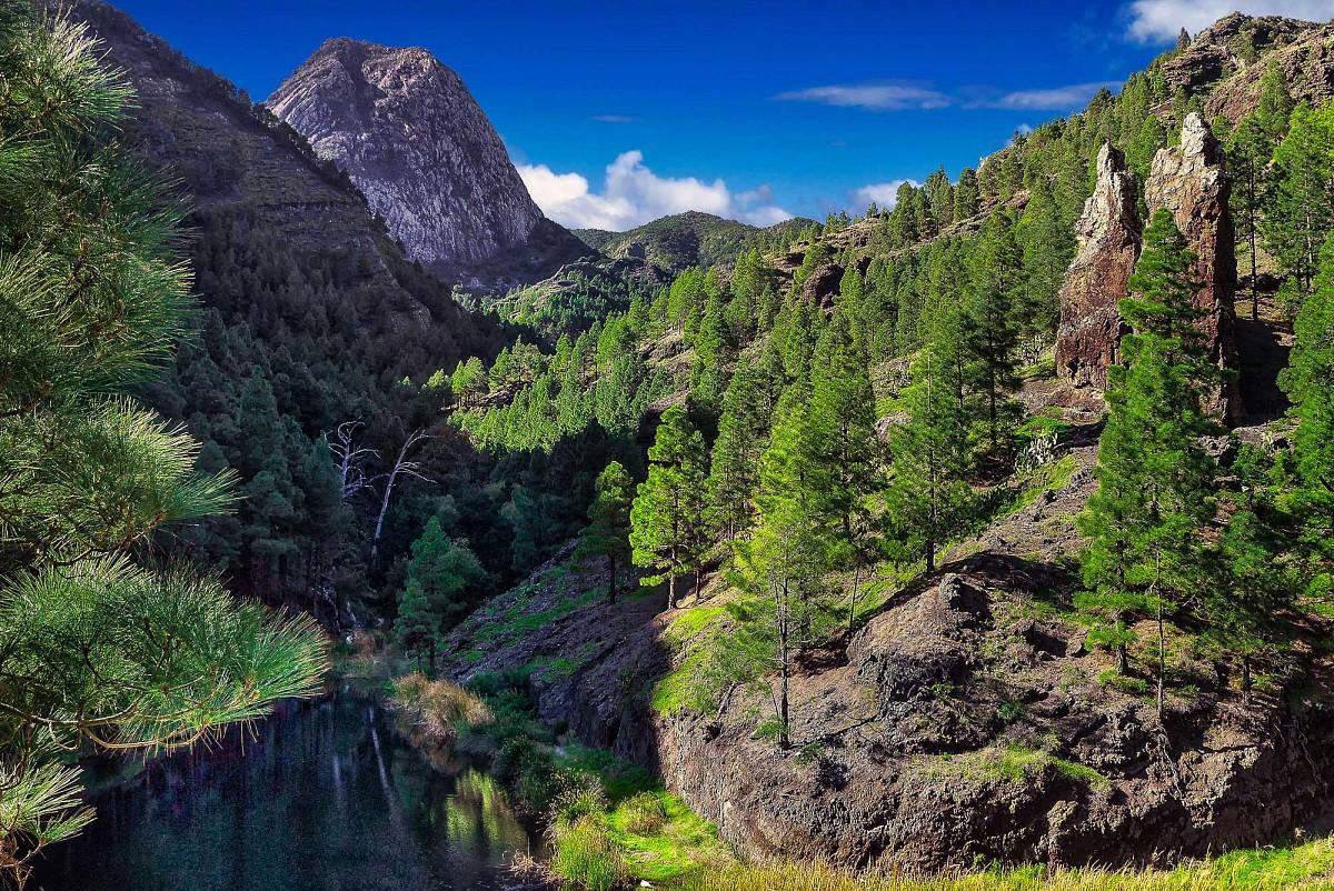 La Laja im bergigen Zentrum La Gomeras © Fremdenverkehrsamt La Gomera