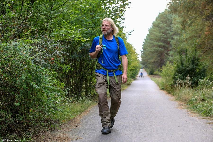 Thorsten Hoyer auf dem Mauerweg